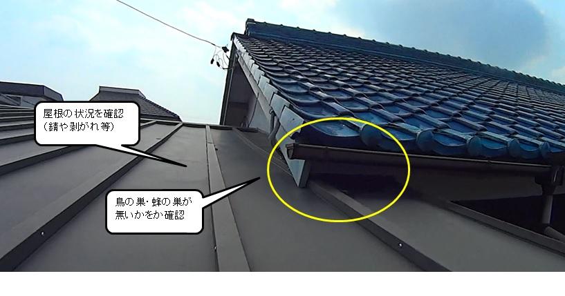 樋(とい)、屋根のチェック