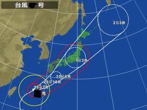 台風天気図