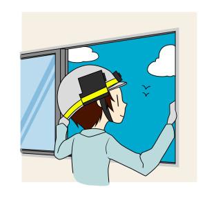 晴天の日の空き家管理