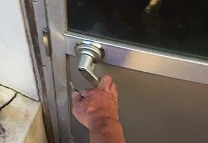 出入口の施錠