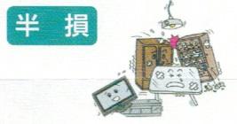 半損(地震保険・家財)